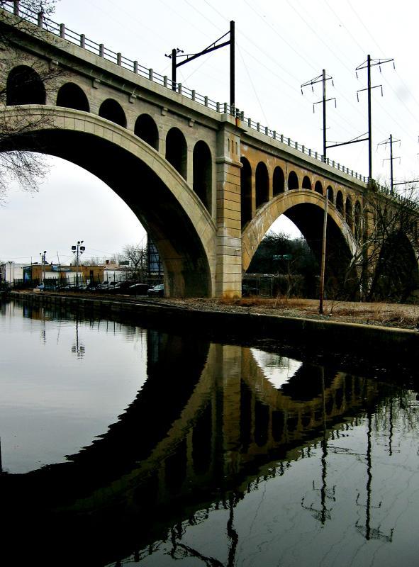Manayunk Bridge, Pennsylvania Railroad    6661.