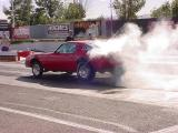 red Camaro burnout
