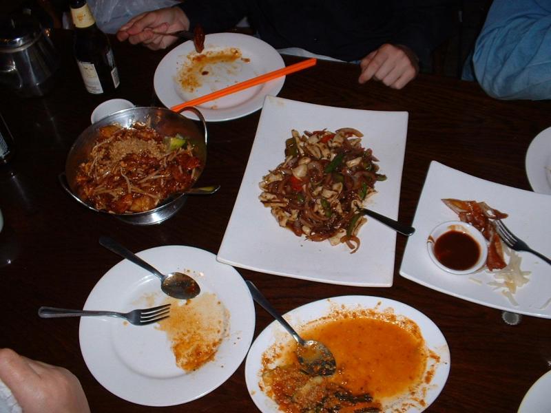 Malaysian Dinner Arrayed