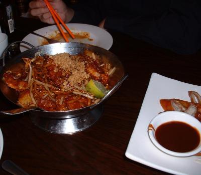 Mee Krob (Seafood Noodles)