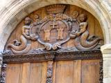 Door with Two-Legged Mermaids
