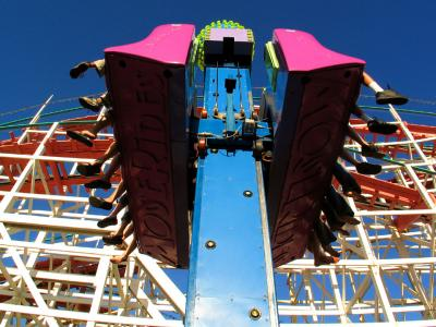 Flying feet, Belmont Amusement Park, San Diego, California, 2004