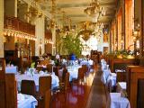 Art Deco restaurant painting