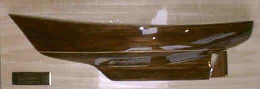 teak half-model of Princess hull by Todd Dunn (link)