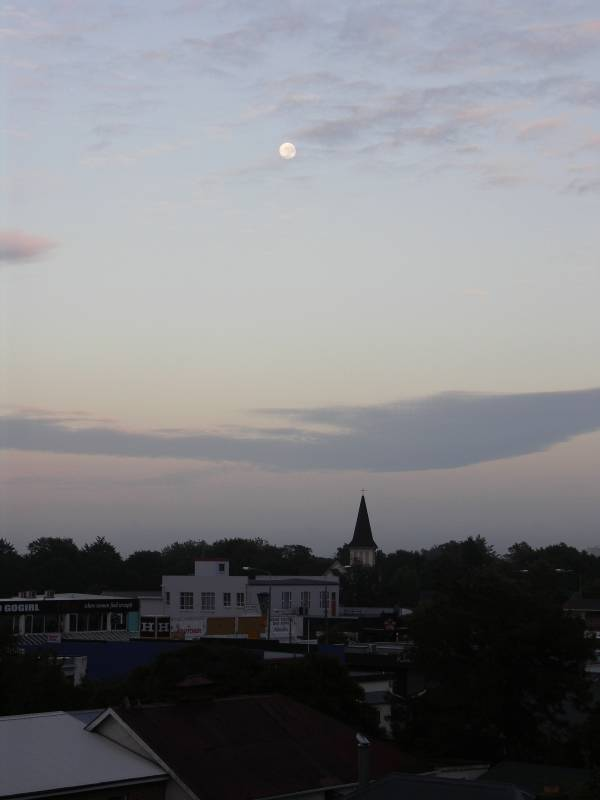 Evening moon at Christchurch