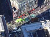 Thanksgiving day parade from Empire State Building