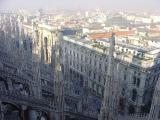 Milan on top of main cathedral