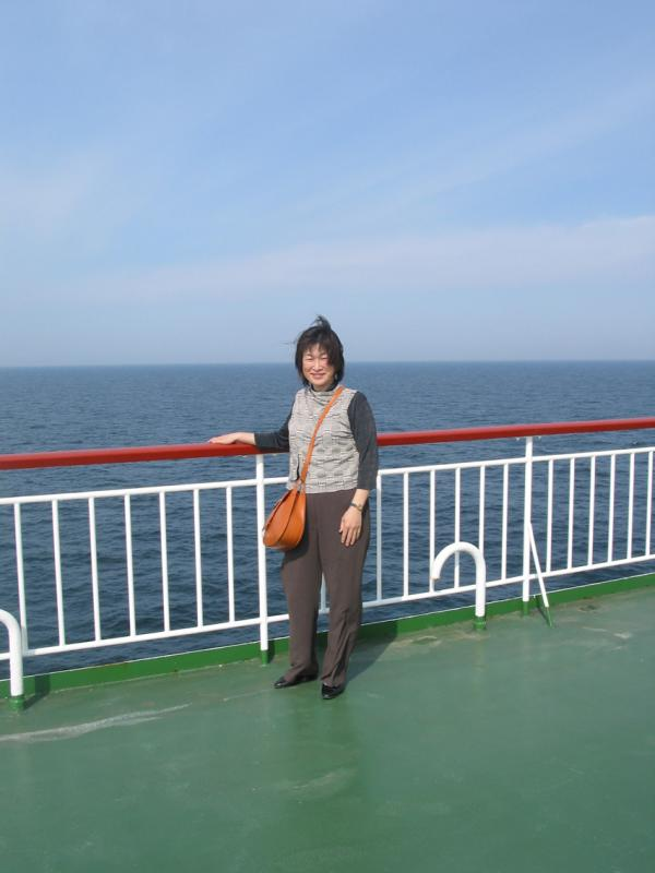 Noriko on deck