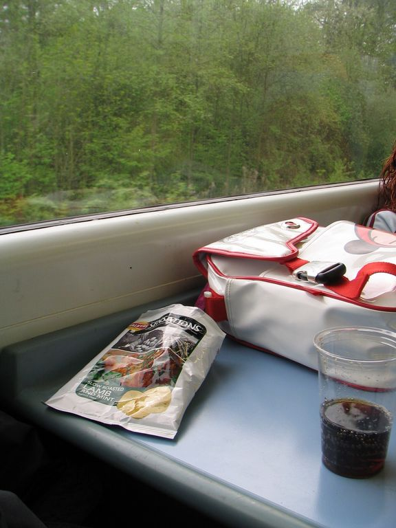 British Rail lunch - en route to Stansted airport
