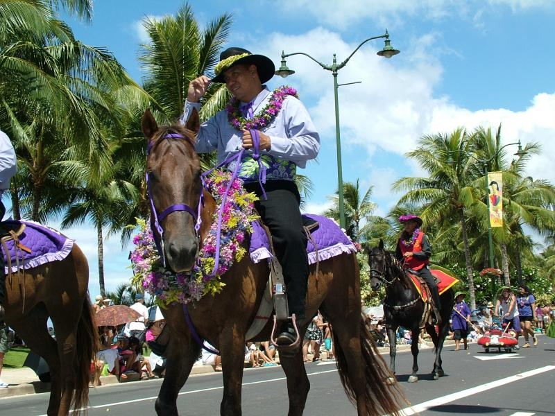 Purple Represents Island of Kaua'i