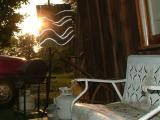 sun catcher on the porch