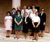 Sisters and Staff - 1968 - Sr. Mary, Sr. Kit, Sr. Gladys. Edith, Sr. Hanny, Sr. Jean, Renee, Sr. Vreni, Sr. Doris, Win