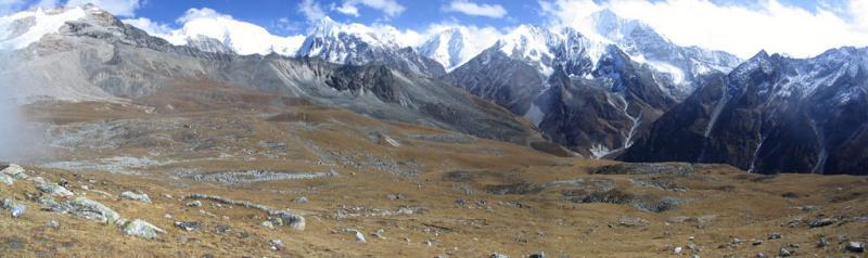View from Tsergo Ri, Nepal