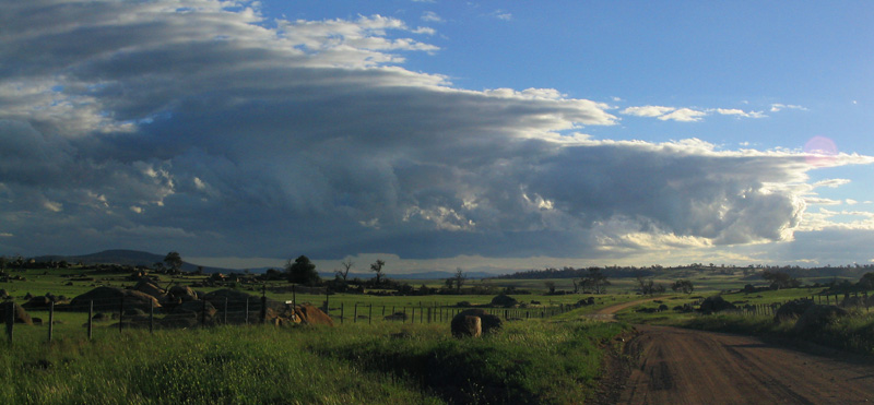 Clouds over Brooks road, Berridale