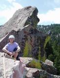 M on top of the ridge on first flat iron