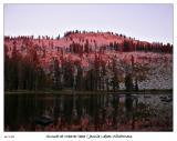 Sunset at Weaver Lake