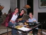 Lory, Maria, & M chowing down