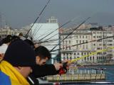 Istanbul Fishermen on Galata Bridge 2003 12 20