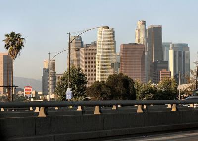 Los Angeles Skyline from the San Bernardino Freeway