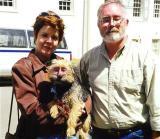 Kathy, Burl and a suspicious dog