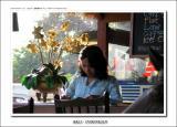 Balinese girl as a waitress