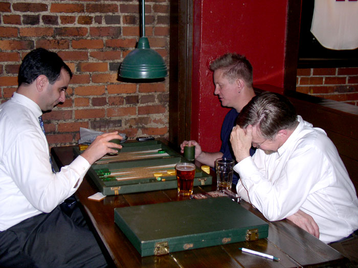 John Duffer finds Bill and Richards play amusing