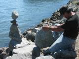 Balancing rocks at Sausalito - the man himself