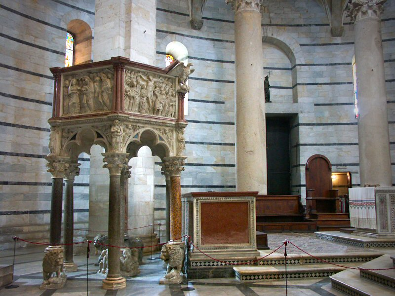 Pulpit by Nicola Pisano, Baptistry