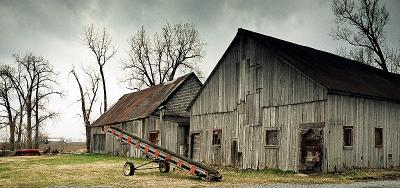 Old barns from countryside