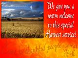 'Welcome' slide from the 'Harvest '04' series