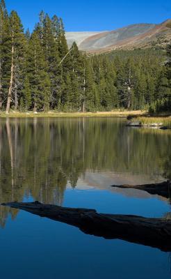 Quiet lake near Tuolumne Meadows camp