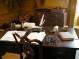 Desk on lower level of Governor's Mansion