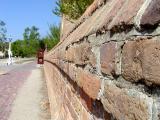 Brickwork in front of Bruton Parish Church