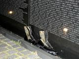 Vietnam Memorial at Night: 27 April 2004 9:23 PM