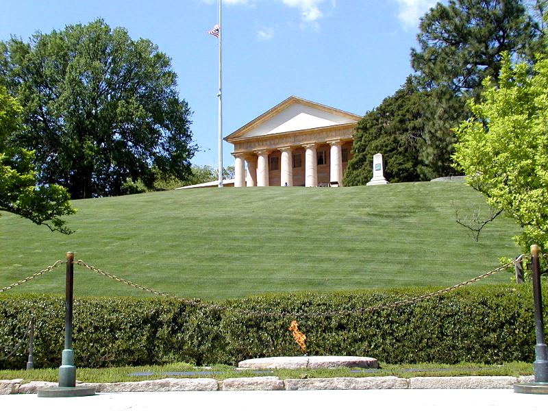 Arlington House, overlooking the Eternal Flame.