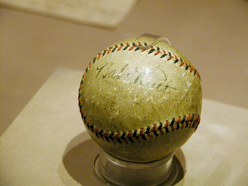 Babe Ruth autographed baseball at the Smithsonian