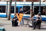 Artists in street