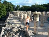 Jessica amongst the columns