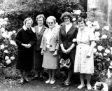Missionary Gathering in Swansea, U.K. in 1985 - Doris, Mary Jeanne, Kit, Vreni and May Price from Bible College