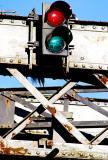 Traffic lights on a bridge