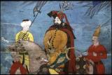 Sultan on horseback