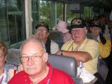 Gene Leitner and Joe Smith on the bus to Pensacola Museum
