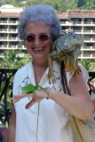 DSC01706 - Vicki with Iguana and lizard