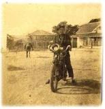 Tom Willcox On Motorcycle - c. 1912