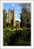 The church from Church Lane, Martock (1846)