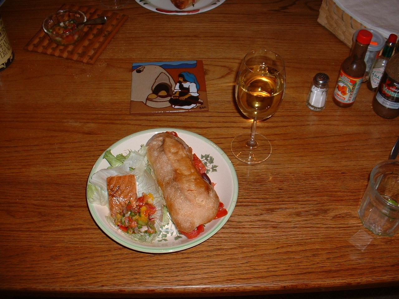Pain Bagnat and salmon