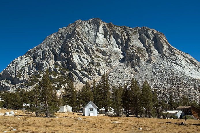 Vogelsang High Sierra Camp, Fletcher Peak behind