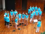 Choir singing at the Ala Moana Center Shopping Mall from Wisconsin