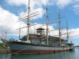 Falls of Clyde, the world's last four-masted, four-rigged ship, built in 1878 in Glasgow, Scotland