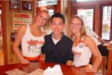 justin 1st time at hooter's, he is now a vip member